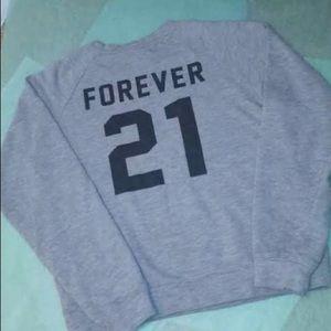 Forever 21 Grey Crewneck Sweatshirt